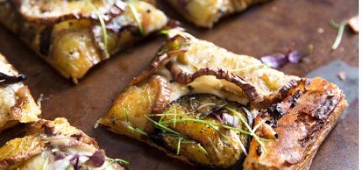 Recetas con berenjenas para la tarta de queso feta y limón